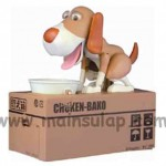 Dog Eating Saving Coin Bank