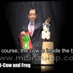 Sulap Magic Cow and Frog by Fujiwara Magic Trick